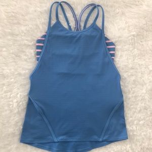 Strappy Ivivva tank with built-in-bra.